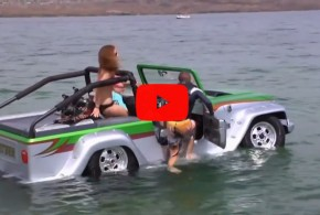 О таком мечтают многие мужики — плавающий автомобиль «Пантера»