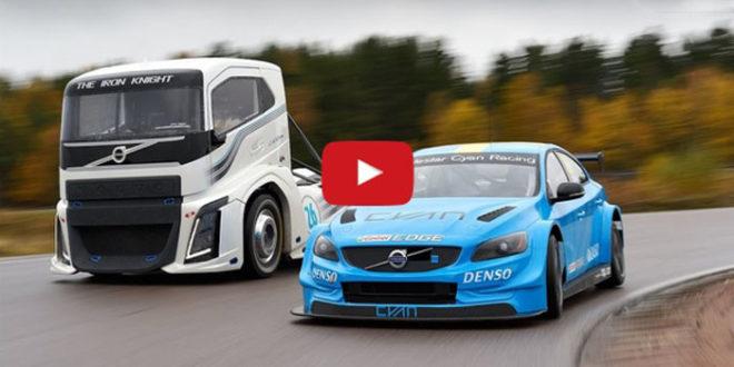 Самый быстрый в мире грузовик Volvo против победителя ФИА гонки WTCC в Шанхае