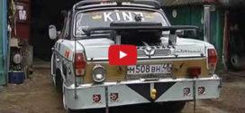 Суровый автотюнинг  — шторки на окнах и надписи по-английски
