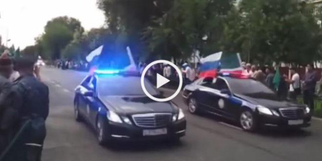 Самый крутой кортеж в России! Король в гостях у Кадырова!