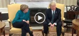 ЕВРОПА В ШОКЕ!!! Трамп отверг рукопожатие с Меркель!