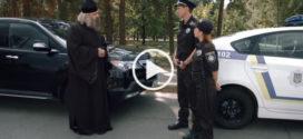 Священник нарушающий правила дорожного движения на своём джипе и новая полиция
