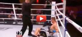 Этот боксер встал после мощной двоечки. Дальше случилось нечто немыслимое!