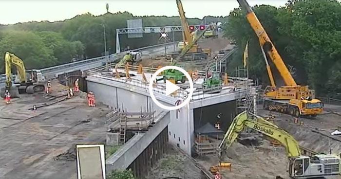 Как в Голландии построили тоннель под шоссе всего за два выходных дня