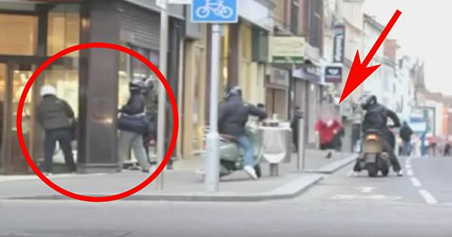 Пожилая женщина, ставшая свидетелем ограбления ювелирного магазина, сделала то, на что не решился никто