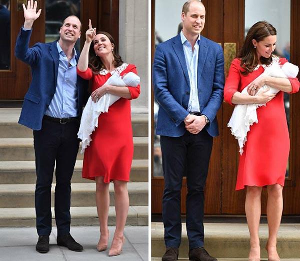 Герцоги Кембриджские впервые показали своего третьего ребёнка. Добро пожаловать в семью!